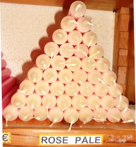 Bougies de couleur for Couleur rose pale