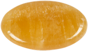 Galet calcite orange