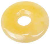 Donut ou Rondelle calcite orange