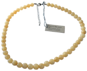 calcite orange collier perles 6 mm